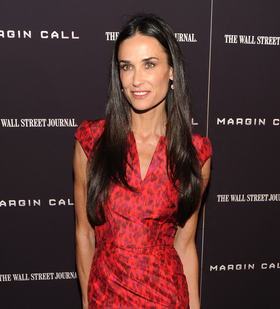 Actress Demi Moore attends the 'Margin Call' premiere at the Landmark Sunshine Cinema on October 17, 2011 in New York City.