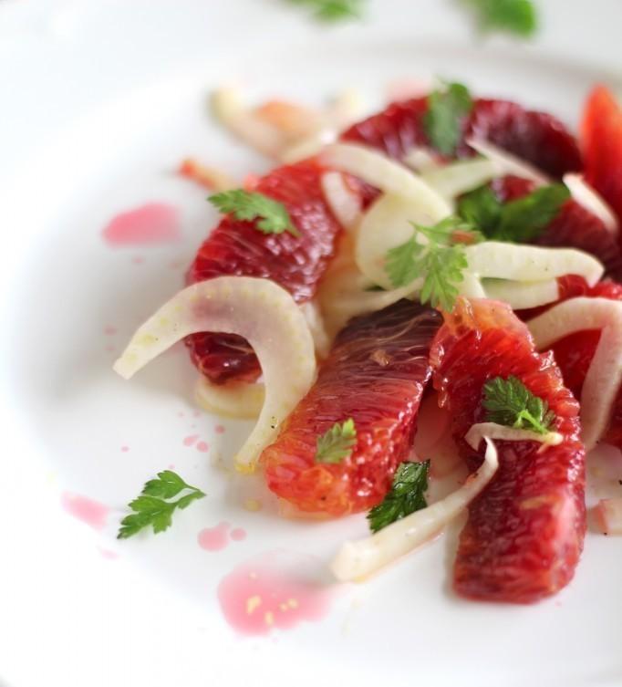 "<strong>Get the <a href=""http://swatibansalrao.com/2013/02/02/simple-blood-orange-and-shaved-fennel-salad/"">Simple Blood Oran"