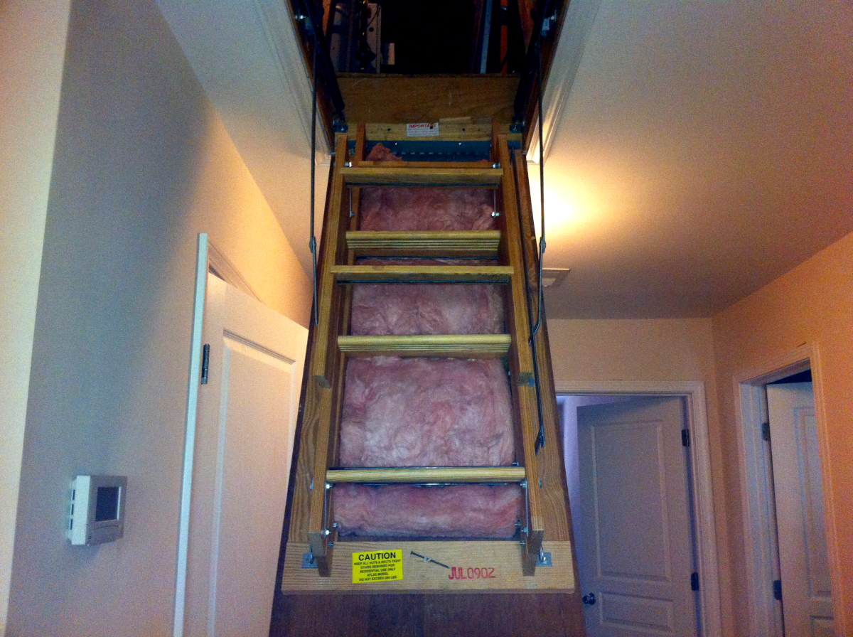 There are lots of escape routes for warm air inside your home. One biggie is your attic area. Make sure the attic door is ins