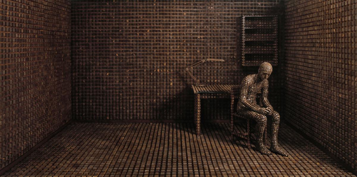 Levi van Veluw Title: Origin of the Beginning 1.2 Media: Installation/Photography Dimensions: 210cm x 100cm & 100cm x 50c