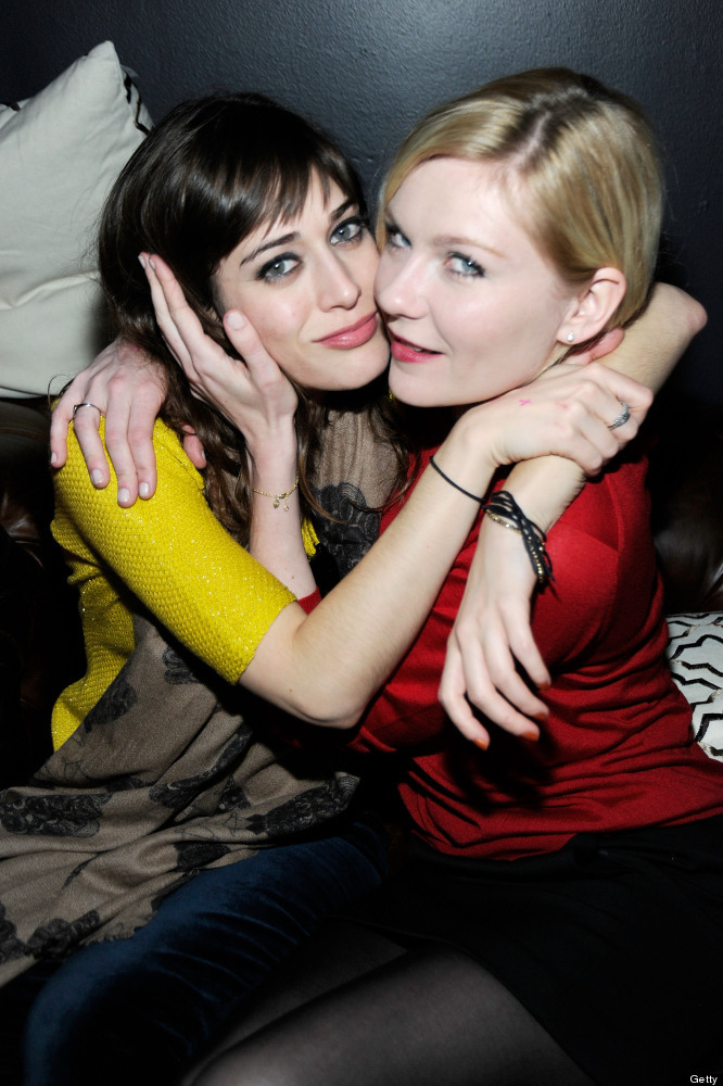 PARK CITY, UT - JANUARY 22:  Actresses Lizzy Caplan and Kirsten Dunst attend Sheets Energy presents BCDF Sundance Cocktail Pa