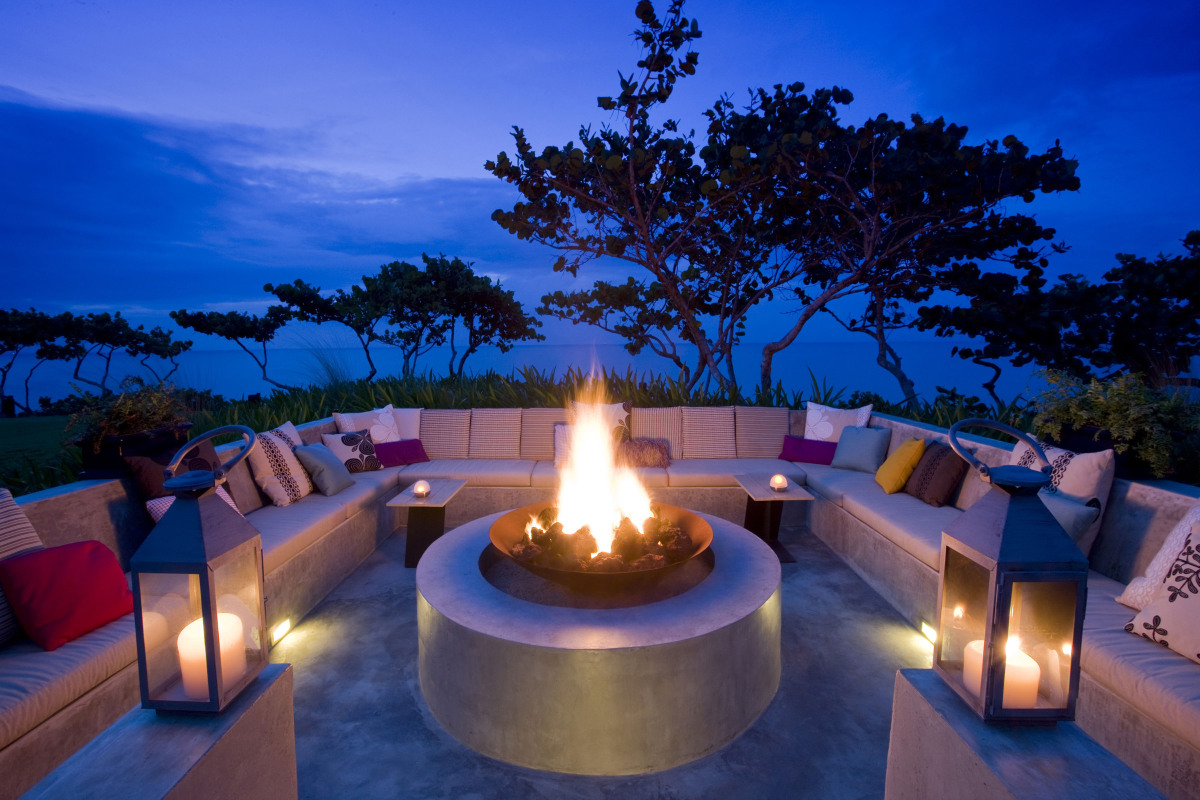 The Firepit at W Retreat & Spa - Vieques Island in Puerto Rico.
