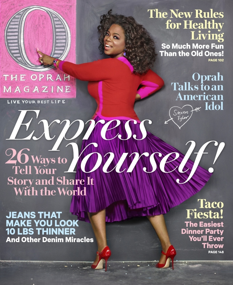 The latest issue of <em>O, The Oprah Magazine</em>, features 26 different ways to express yourself, from your fashion style t