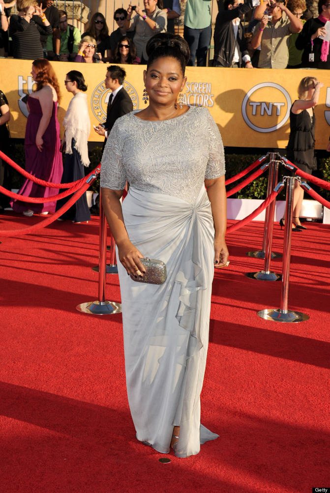 LOS ANGELES, CA - JANUARY 29:  Actress Octavia Spencer arrives at the 18th Annual Screen Actors Guild Awards at The Shrine Au