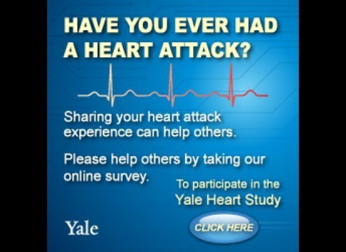 """Help others by taking the Yale Heart Study:  <a href=""""https://heartstudy.yale.edu/hacs/"""" target=""""_hplink"""">https://heartstudy."""