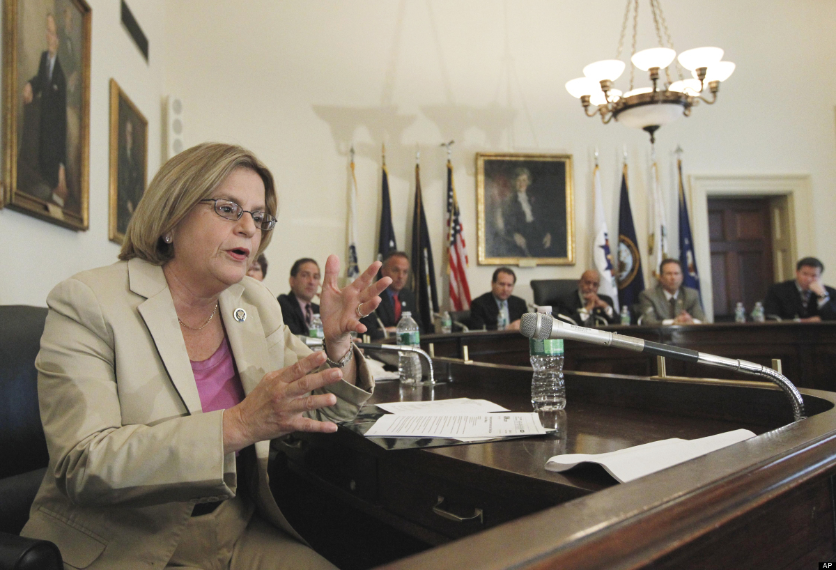 Rep. Ileana Ros-Lehtinen, left, R-Fla., gestures on Capitol Hill in Washington, Wednesday, May 19, 2010, during a  delegation