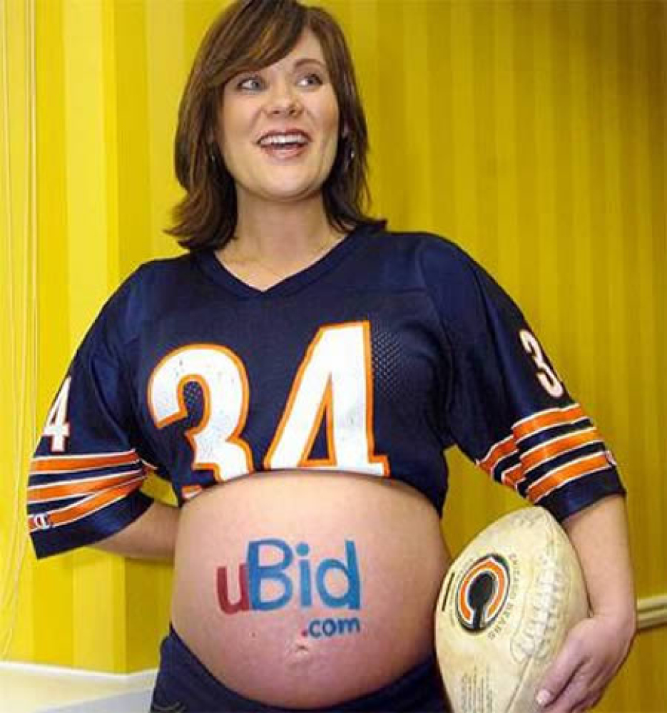"In 2007, mother-to-be Jennifer Gordon offered to paint a company's logo on her baby bump <a href=""http://www.whotv.com/who-mo"