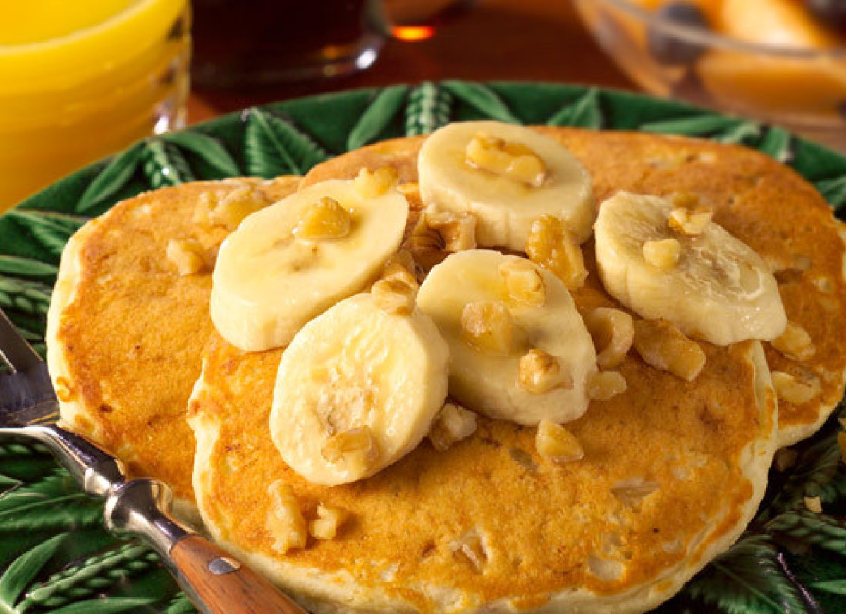 If your family requests pancakes do more than pour-and-flip. This recipe for light and fluffy pancakes made with ripe bananas