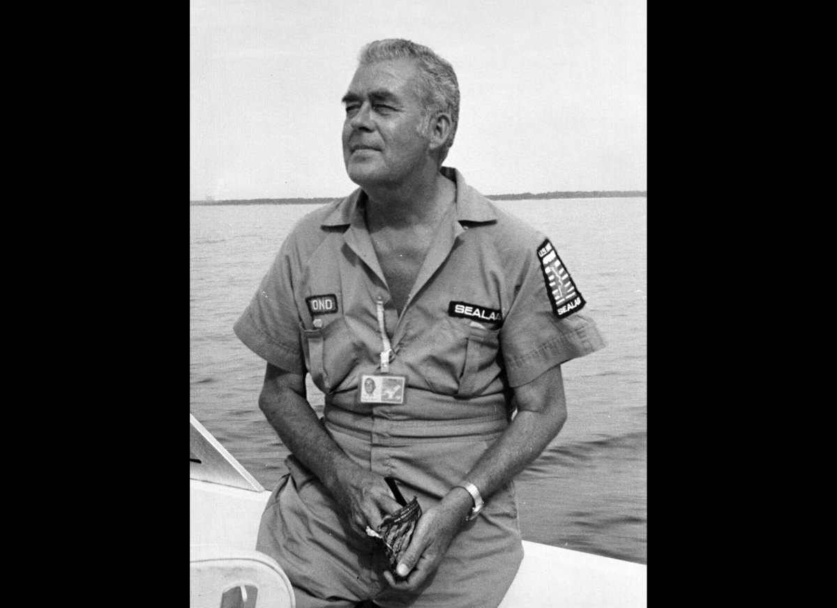 Dr. George Bond, pictured here in the mid-1960s, became the unlikely father of Sealab -- unlikely because before joining the