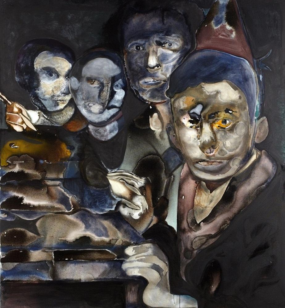 """Maya Bloch, """"Untitled"""", acrylic on canvas, 150x140cm, 2011, Courtesy of Thierry Goldberg Gallery."""
