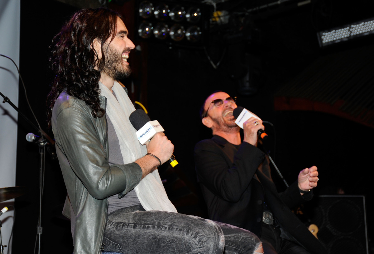 """WEST HOLLYWOOD, CA - JANUARY 30: Musican Ringo Starr on stage at """"SiriusXM's Town Hall With Ringo Starr"""" And Host Russell Bra"""