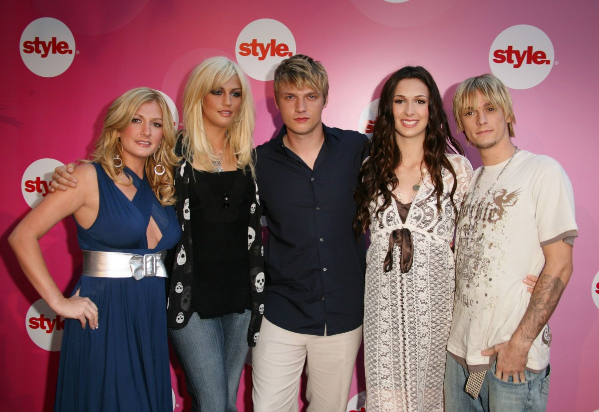 Bobbie Jean Carter, Nick Carter, Leslie Carter, Angel Carter, and Aaron Carter arrive at the Style Network Party At The Summe