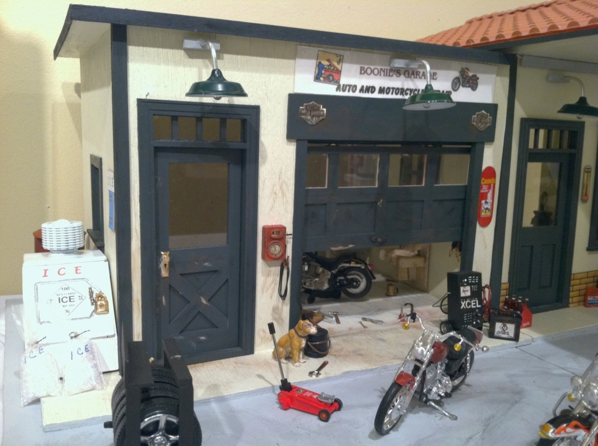 Boonie's Garage, a miniature service station, is part of the new Alexandria Black History Museum exhibit. Artist Linwood M. C