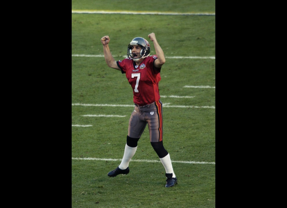 Martin Gramatica, of Buenos Aires, Argentina, has played in two Super Bowls, both times with the winning side. First in Super