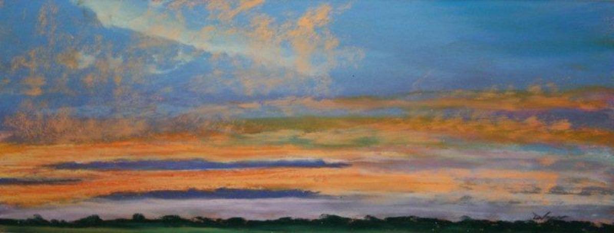 Debbie Wagner, pastel, Spring Sunrise