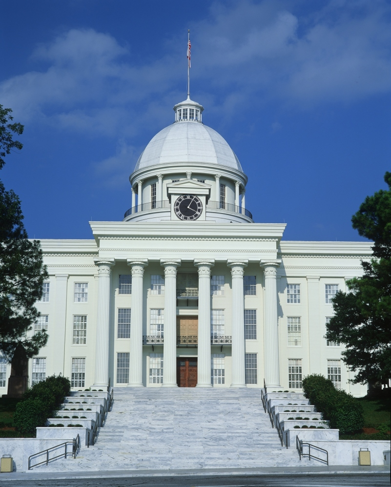 Alabama scored a 4/10 for their science education standards, and earned a D grade. Shown here is the state capitol of Alabama