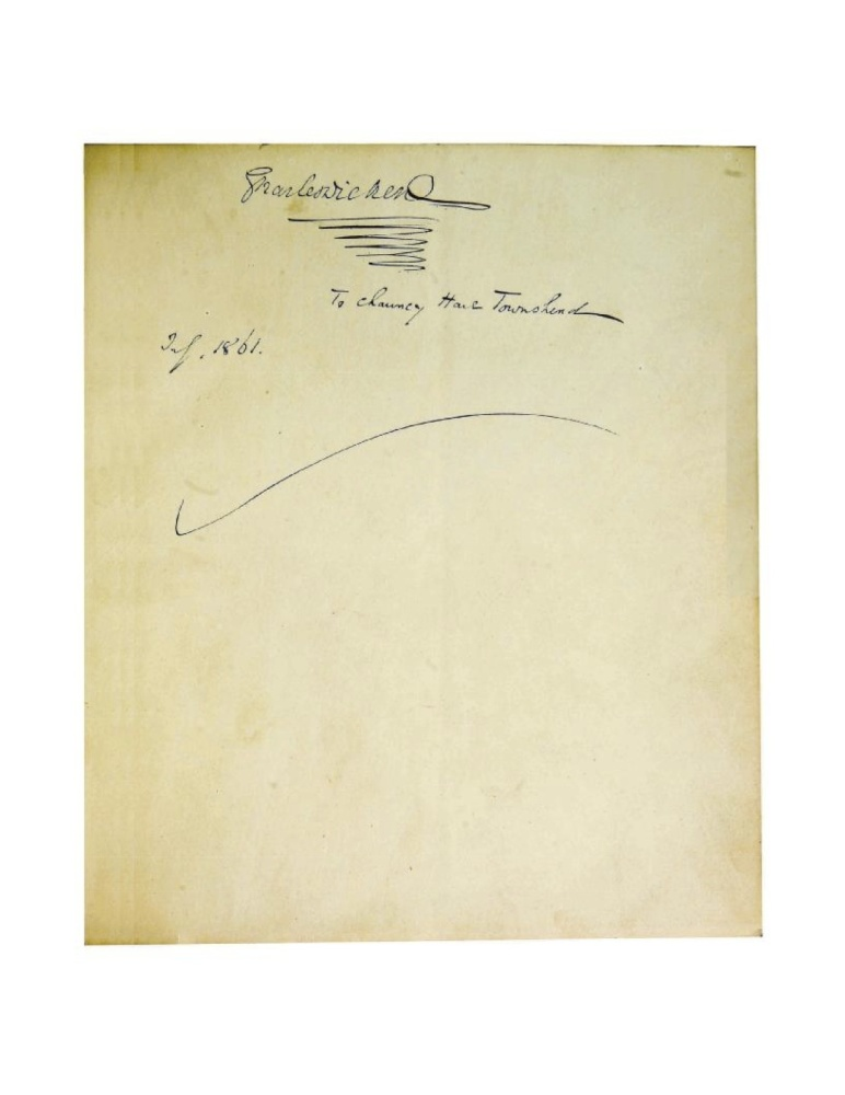 Dickens often gave completed manuscripts to his friends, and dedicated the manuscript (in this case,<em> Great Expectations</
