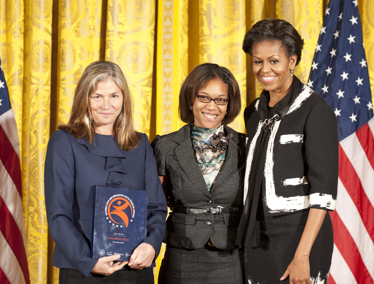 On Nov. 2, 2011 at the White House award ceremony, when Mrs. Michelle Obama presented The CARE Center with the National Arts