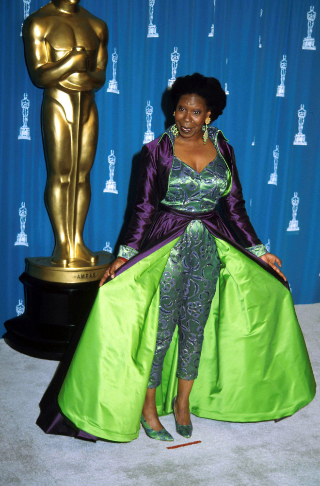 Whoopi Goldberg dressed in full 24th century regalia at 1993's  Academy Awards.  (Barry King, Liaison / Getty Images)