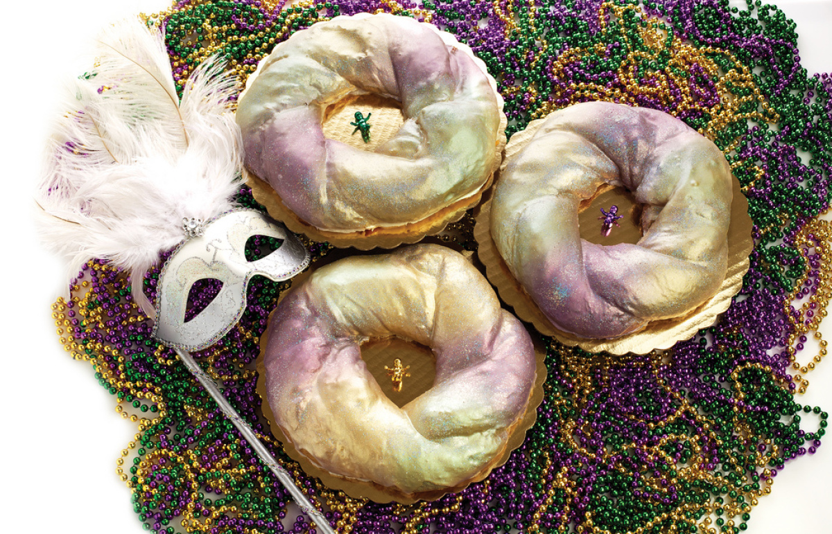 While Sucre may not sell the most traditional looking king cakes in Louisiana, they're awfully beautiful -- and were voted <a