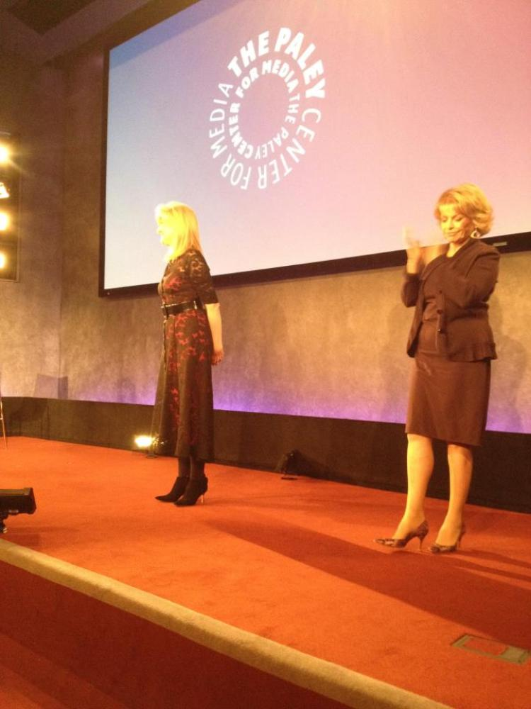 With Pat Mitchell at the Paley Center -- November 9, 2011