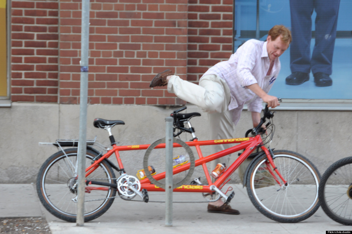 Maybe taking the tandem bike in for repair has been on your list of things-to-do forever, but couldn't you have waited until