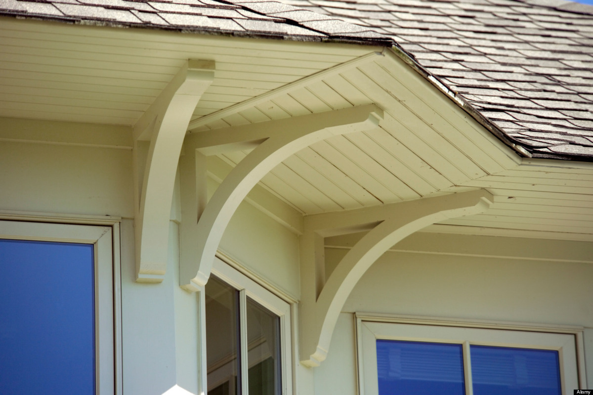 If you get a lot of rain where you live, design your house with overhangs and simple roof designs to keep water from backing