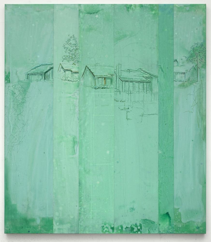 Michael Raedecker, 'repeat', 2011, Acrylic and thread on canvas, 226 x 200 cm / 89 x 78 3/4 in, © Michael Raedecker, Courtesy