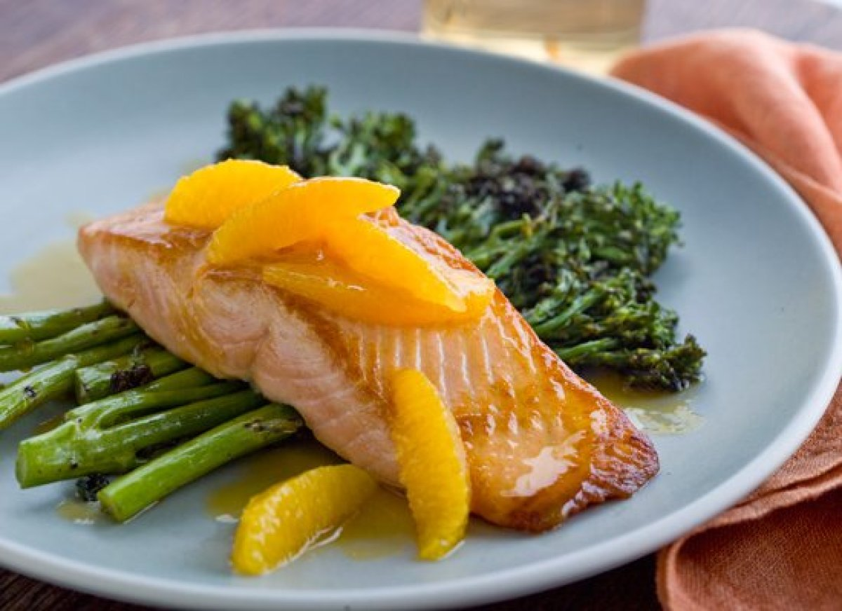 Seared salmon gets a bright boost from oranges in this easy recipe, which comes together in 30 minutes. For the sauce, you'll