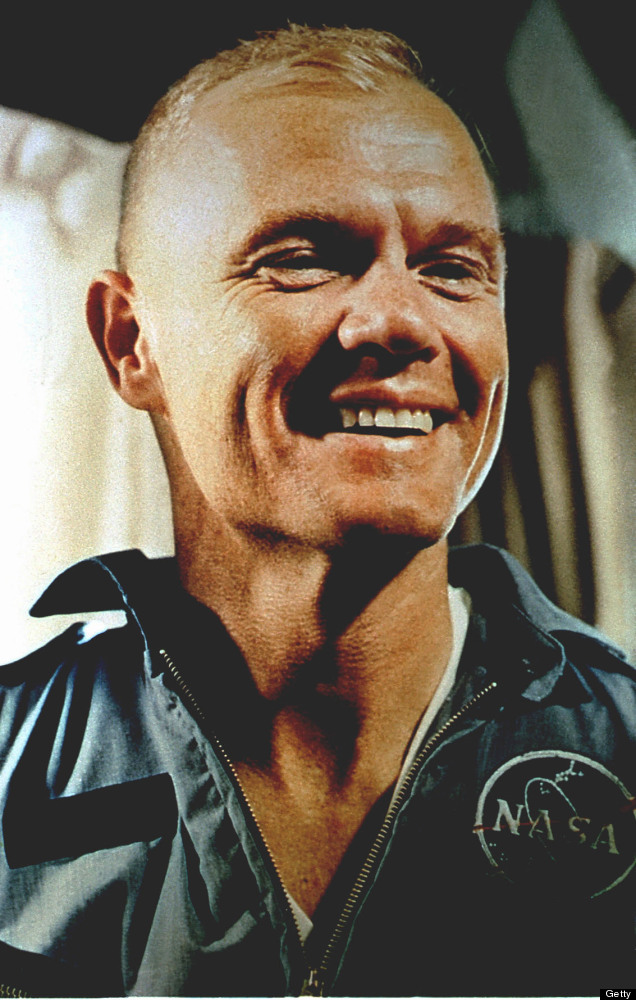 CAPE CANAVERAL, FL - Astronaut John Glenn, Jr. before preperations for launch aboard Mercury Atlas 6. FEB. 20, 1962