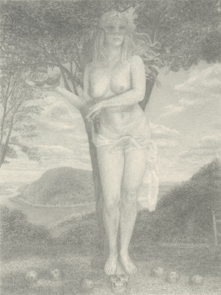"Triumph Over Death, 2011 Graphite on paper 10 x 8"" Courtesy of Daniel Cooney Fine Art, New York"