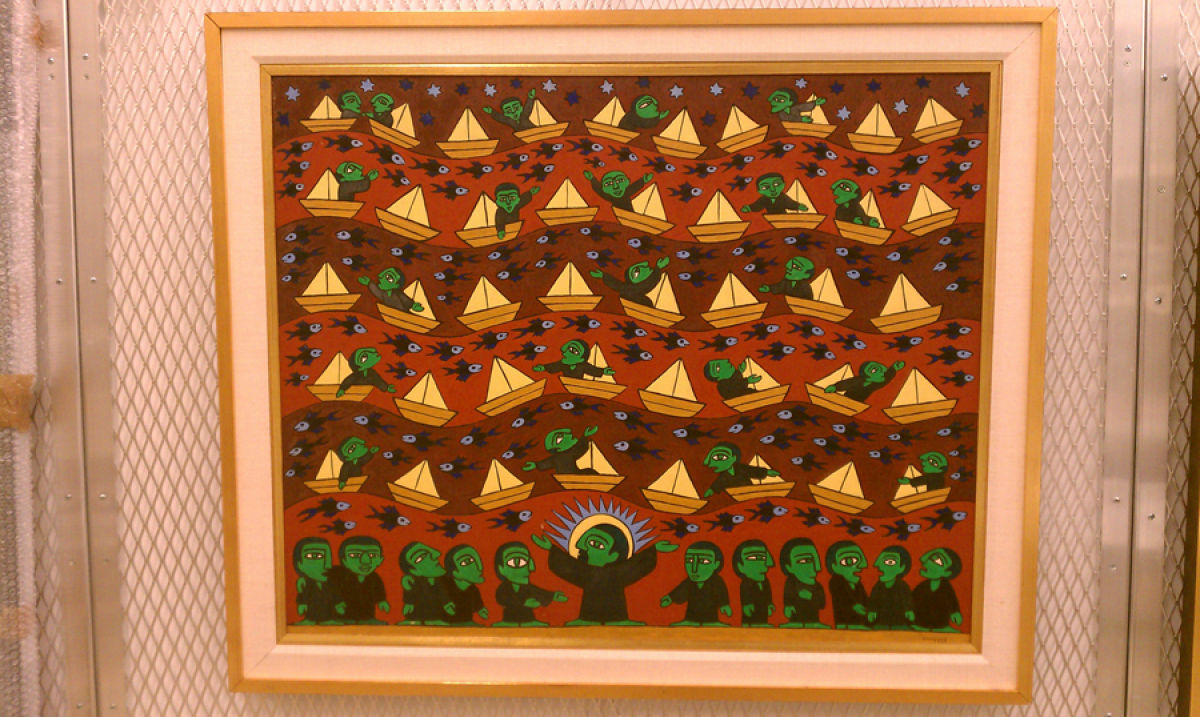 Raimundo de Oliveira, Christ and Apostles, 1963, oil on canvas, 31 ½ x 39 ½ inches, Collection El Museo del Barrio, NY, Gift