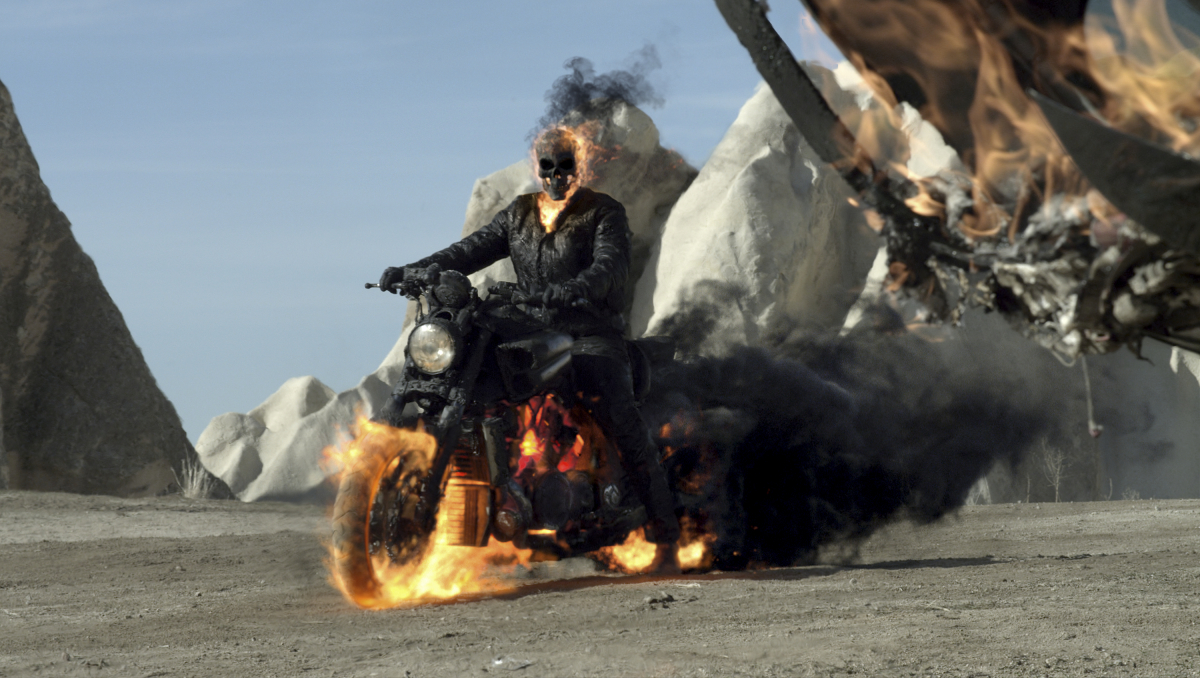 "In ""Ghost Rider: Spirit Of Vengeance,"" John Blaze (played by Nicolas Cage) is appointed to stop the devil, but according to <"