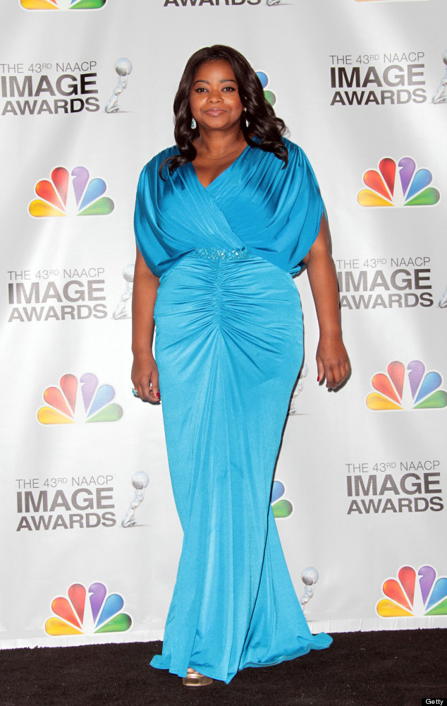LOS ANGELES, CA - FEBRUARY 17: Actress Octavia Spencer poses in the press room at the 43rd NAACP Image Awards held at The Shr