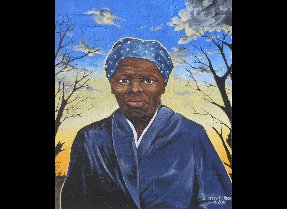 Abolitionist Harriet Tubman is depicted in this painting by Charles E.T. Ross, her great-great-great nephew.