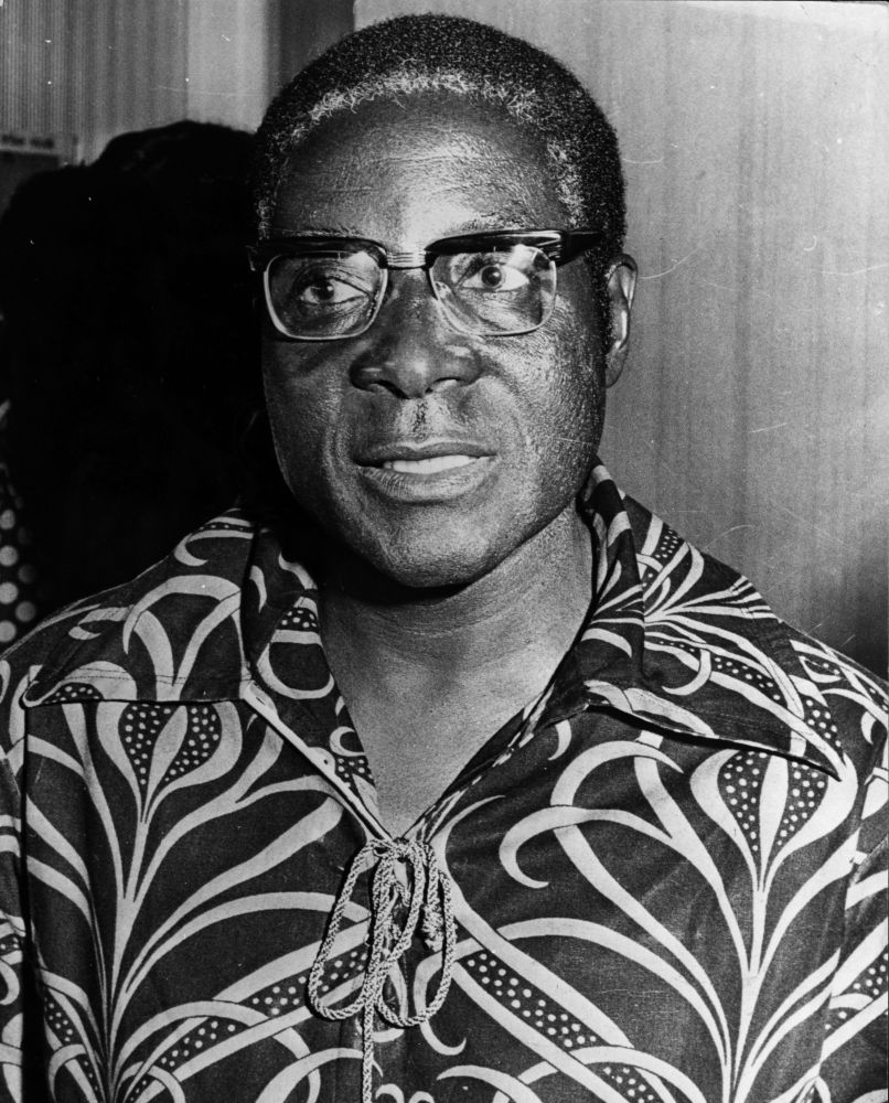 This politician pictured in 1976 would come to rule Rhodesia, renamed Zimbabwe, in 1980.  (Photo by Keystone/Getty Images)