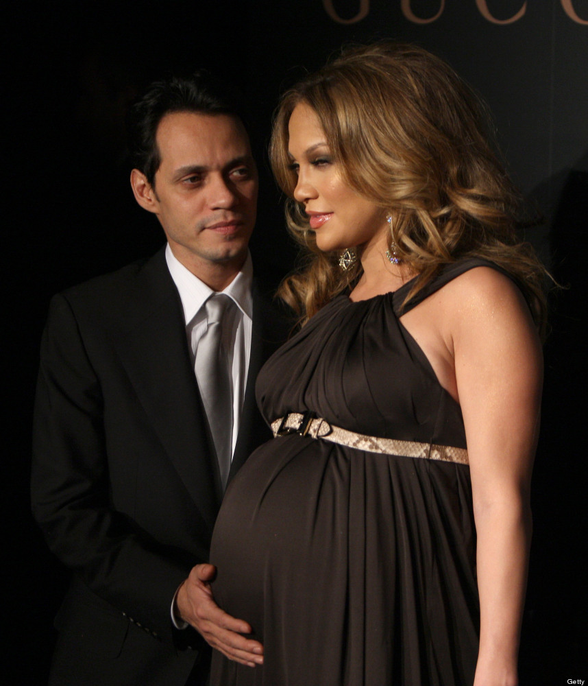 NEW YORK, NY - FEBRUARY 06, 2008:  Jennifer Lopez and Marc Anthony attend a reception to benefit UNICEF hosted by Gucci durin