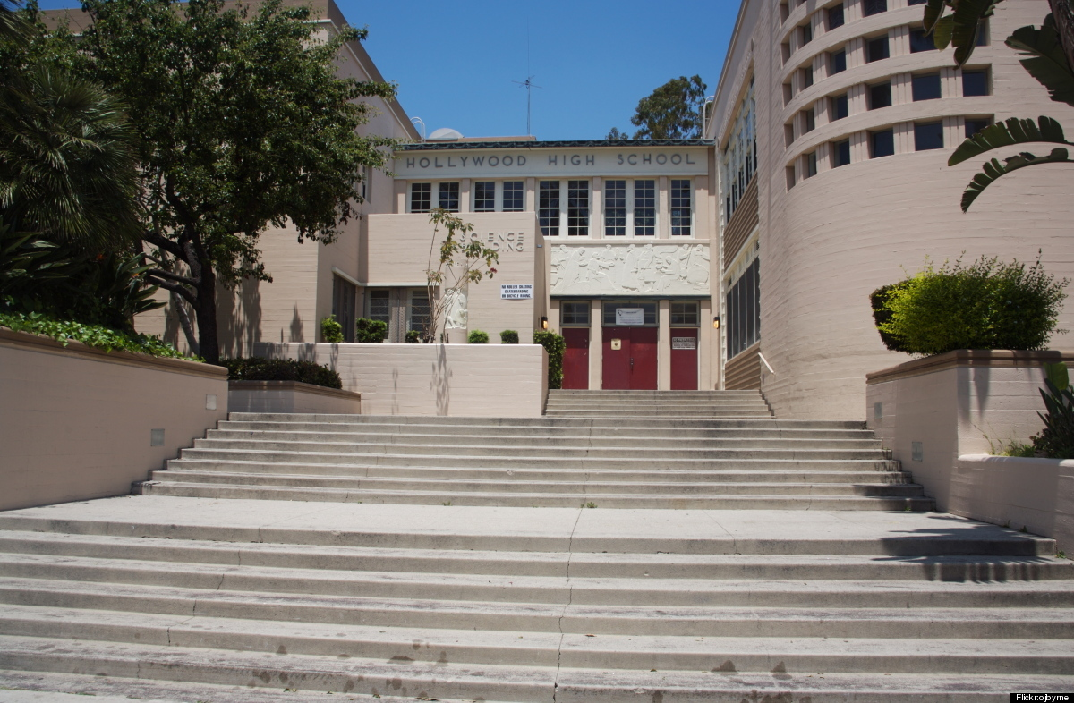 A view up the steps at Hollywood High School (Photo by Ojbyrne/Flickr)