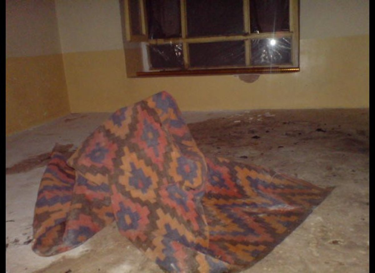 A blanket is thrown over Sadat after she sets herself on fire in attempted suicide to escape a forced, abusive marriage, and