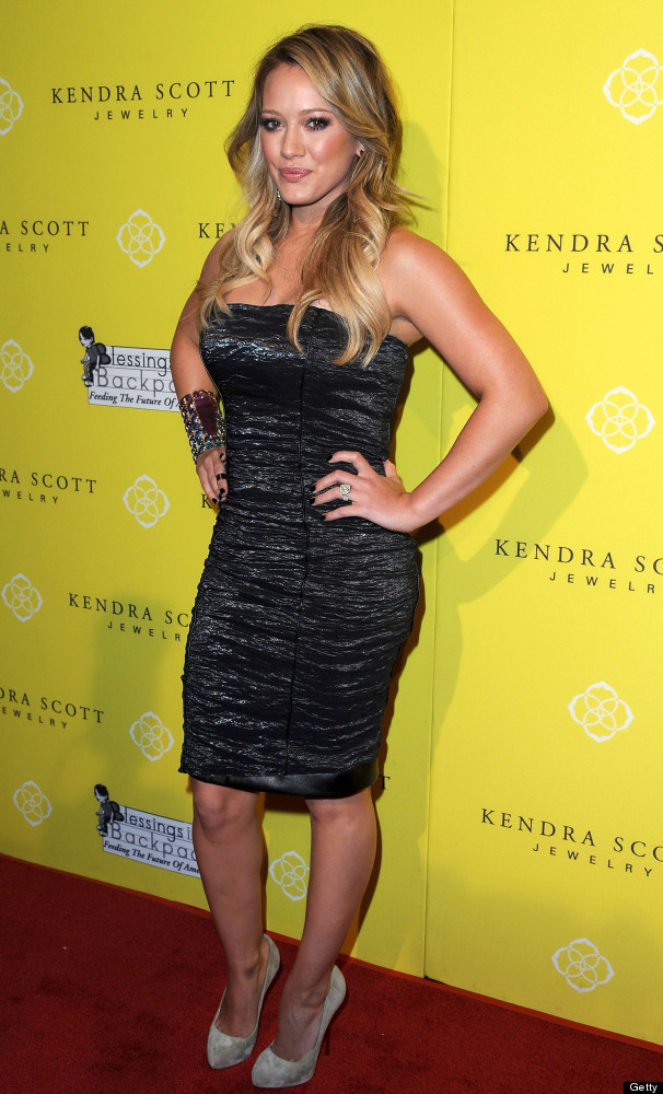 Actress Hilary Duff attends the Kendra Scott Jewelry of Beverly Hills Grand Opening benefiting 'Blessings In A Backpack' on A