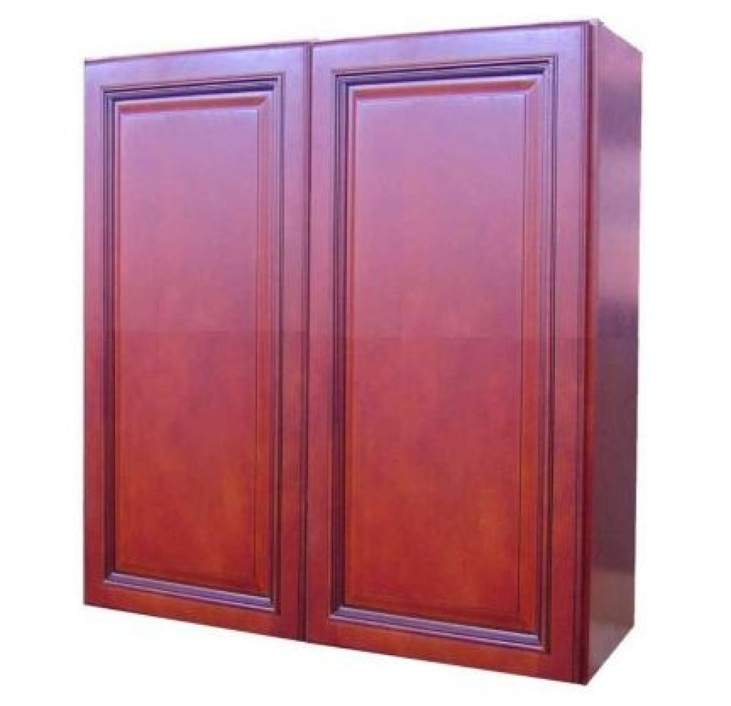 These cherry cabinets are RTA (Ready-to-Assemble), meaning they're easy to put together and install, which is a good option t