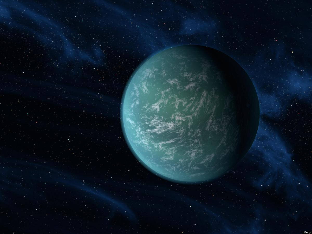 In this handout illustration made available on December 5, 2011 by NASA, the Kepler-22b, a planet known to comfortably circle