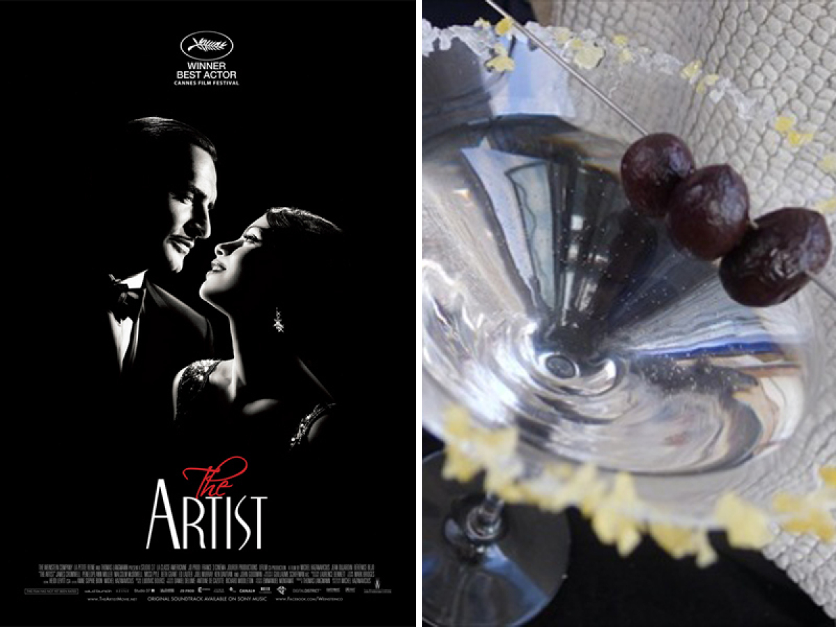 "These martinis pay respect to ""The Artist""; the rumored front runner for this year's Best Picture. To start with: the obvious"