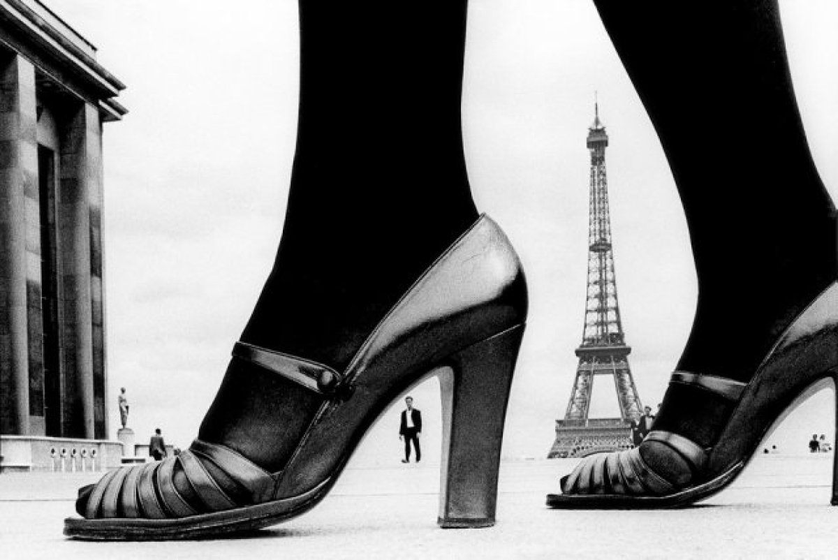 © Frank Horvat  Shoe and Eiffel tower, for Stern, 1974.