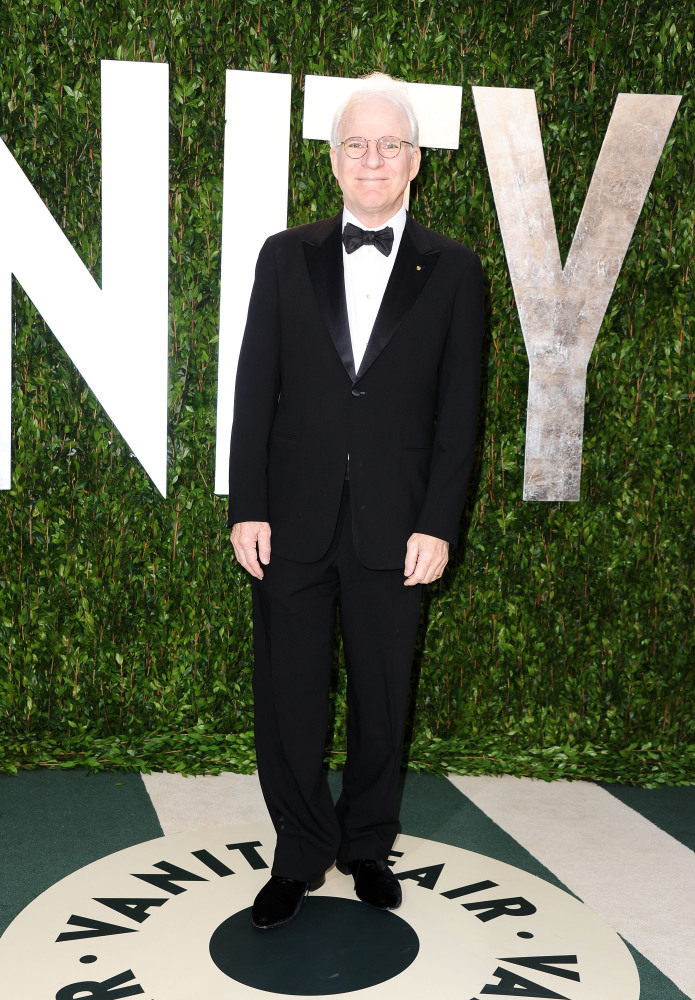 Actor Steve Martin arrives at the 2012 Vanity Fair Oscar Party hosted by Graydon Carter at Sunset Tower on Feb. 26, 2012 in W