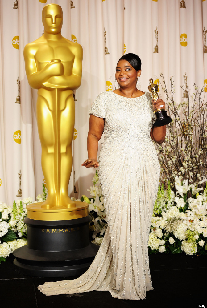 HOLLYWOOD, CA - FEBRUARY 26:  Actress Octavia Spencer, winner of the Best Supporting Actress Award for 'The Help,' poses in t