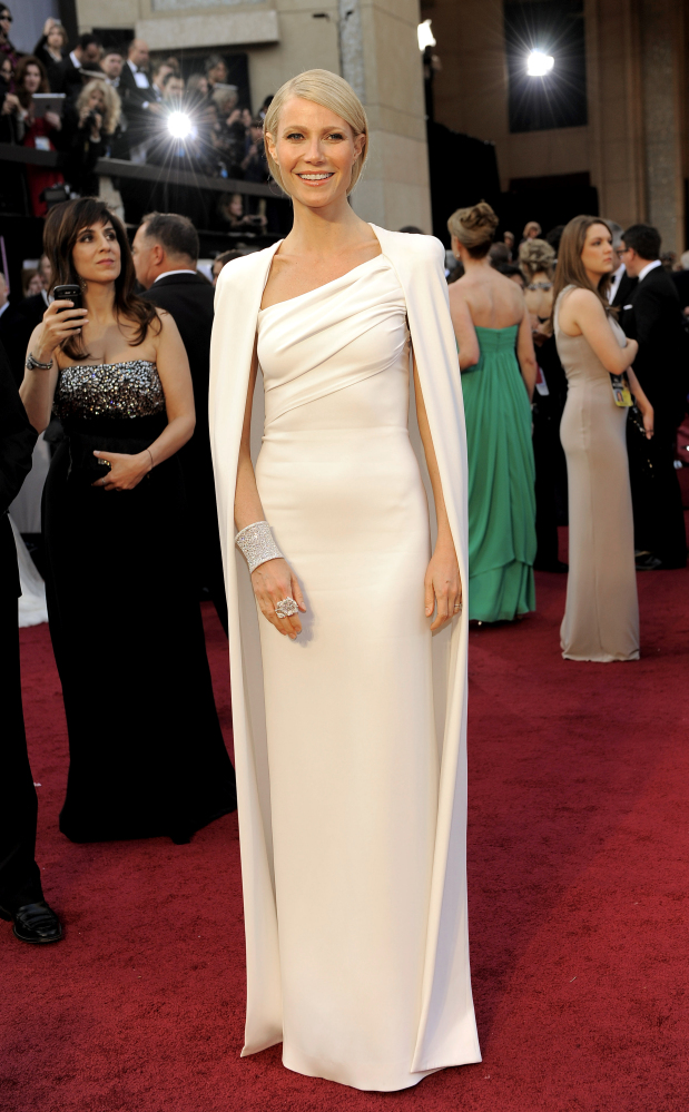 """Actress Gwyneth Paltrow showed up to the Academy Awards in a <a href=""""http://www.stylelist.com/2012/02/26/oscars-2012-best-dr"""
