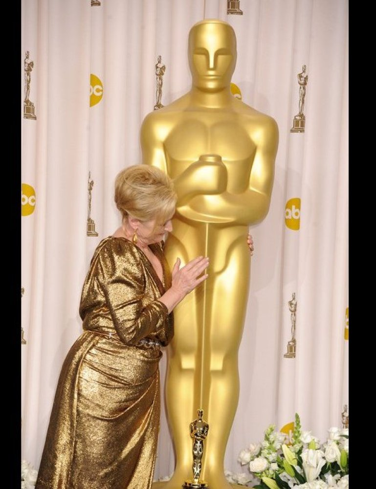 Meryl Streep poses in the press room at the 84th Annual Academy Awards held at the Hollywood & Highland Center on February 26