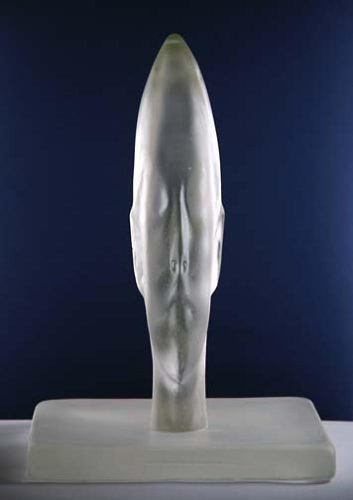 """Jaume Plensa, """"Cristina's Frozen Dreams"""", Glass, Approx: 24 in. (61 cm), 2010, Courtesy of Berengo Private Collection, Venice"""