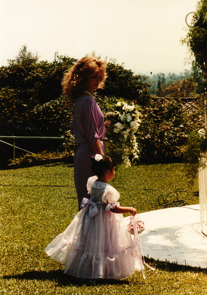 """I must have been 2 years old. Here with my cousin Cici. Such a girly girl, princess dress."""